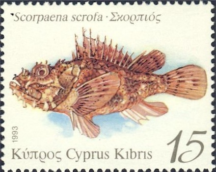 Scorpion Fish - Scorpaena Scrofa Stamp